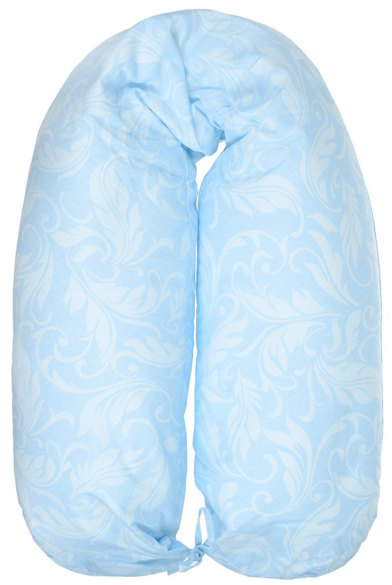 40 недель Подушка для кормящих и беременных цвет голубой белый555А_белый, бежевыйМногофункциональная комфортная подушка для беременных и кормящих 40 недель самая большая подушка, которая помогает будущей маме комфортно устроиться во время дневного и ночного отдыха.Внутренний чехол изготовлен из материала-бязь, а съёмная наволочка из трикотажного полотна с потайной молнией. Данное комфортное изделие позволяет беременной женщине принять нужное удобное положение, обеспечивая максимальную поддержку шеи, спины, живота и ног. Оптимальная длина подходит под любой рост. Подушка так же разработана и для удобного кормления малыша грудью, из любых позиций как сидя так и лёжа. Для малыша такая подушка может служить уютным гнёздышком во время игры или сна, обеспечивая надёжную защиту от падения.Наполнитель - пенополистирол - это легкий, экологически чистый и безопасный материал, который принимает практически любую форму.