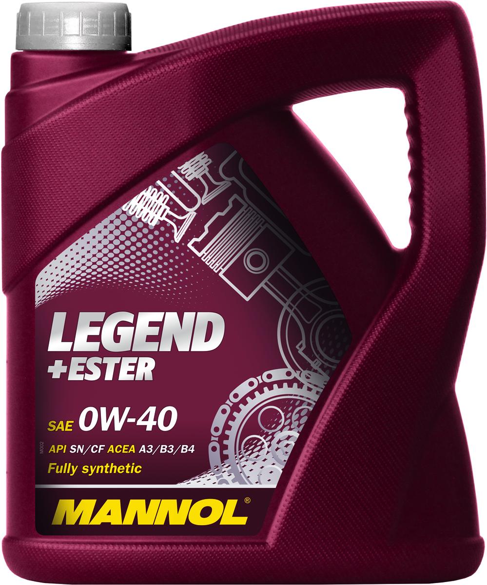 Моторное масло MANNOL Legend+Ester, 0W-40, API SN/CF, синтетическое, 4 лS03301004Mannol Legend+Ester 0W40 - универсальное всесезонное полностью синтетическое энергосберегающее моторное масло, предназначенное для новых поколений всех типов двигателей. Благодаря уникальной би-синтетической основе обеспечивает мгновенную смазку при экстремально низких температурах. Предотвращает пусковой износ. Обеспечивает исключительную чистоту деталей двигателя. Гарантирует максимальную защиту от износа на всех режимах работы двигателя.