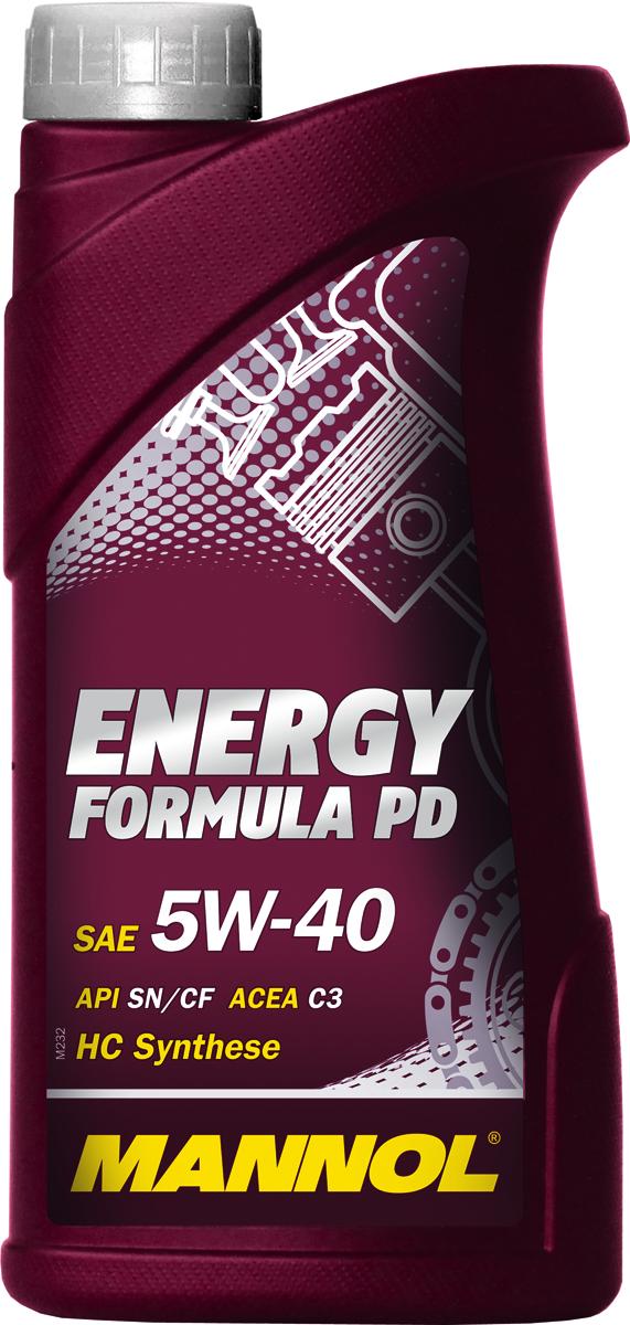 Моторное масло MANNOL Energy Formula PD, 5W-40, API SN/SM/CF, синтетическое, 1 лS03301004Высокотехнологичное синтетическое моторное масло, предназначенное для современных бензиновых и дизельных двигателей автомобилей стандарта EURO IV и EURO V. Разработано с учетом соответствия последним техническим требованиям двигателей, оснащенных турбонаддувом и непосредственным впрыском, насос-форсунками (Pumpe-D?se), а также современными системами доочистки выхлопных газов и требующих применения масел стандарта ACEA C3. Обладает высокими антиокислительными свойствами и превосходными моюще-диспергирующими характеристиками, что предупреждает образование отложений и поддерживает исключительную чистоту деталей двигателя. Синтетическая основа масла гарантирует легкий холодный пуск даже при экстремально низких температурах. Совместимо с каталитическими конверторами и сажевыми фильтрами (DPF). Может использоваться в автомобилях, работающих на природном (CNG) и сжиженном (LPG) газе.