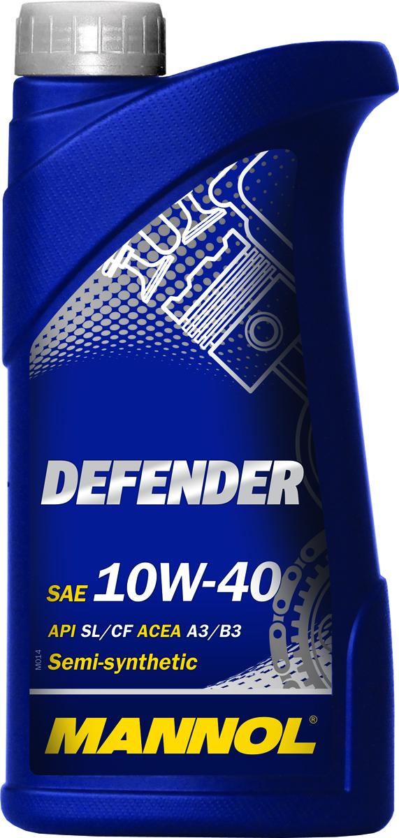 Моторное масло MANNOL Defender, 10W-40, API SL/CF, полусинтетическое, 1 лS03301004Mannol Defender 10W-40 – универсальное всесезонное полусинтетическое моторное масло на гидросинтетической основе, предназначенное для современных бензиновых и дизельных двигателей с турбонаддувом и без. Разработано с использованием специальной новой уникальной технологии снижения износа StahlSynt. Обеспечивает высокую степень защиты как для новых, так и для автомобилей с большим пробегом. Способствует продлению срока между заменами масла. Mannol Defender - это надежная работа двигателя в условиях высоких нагрузок и частой смены температур.Допуски и соответствия ACEA A3/B3, VW 501.01/505.00, MB 229.1