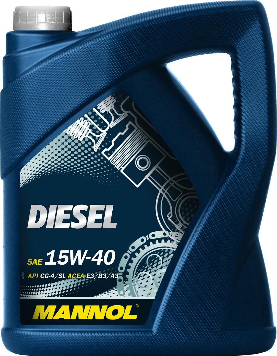 Моторное масло MANNOL Diesel, 15W-40, API CG-4/CF-4/CF/SL, минеральное, 5 лS03301004Mannol Diesel 15W40 - всесезонное моторное масло на минеральной основе, предназначенное для применения в высокофорсированных дизельных двигателях легковых и грузовых автомобилей, оснащенных турбонаддувом. Тщательно сбалансированный пакет присадок эффективно защищает от износа и предотвращает коррозию. Снижает до минимума саже- и нагарообразование. Обеспечивает надежную смазку и чистоту двигателя при любых условиях эксплуатации.Допуски и соответствия VW 505.00/501.01, MB 228.3/229.1, MAN 3275, MTU 2.0