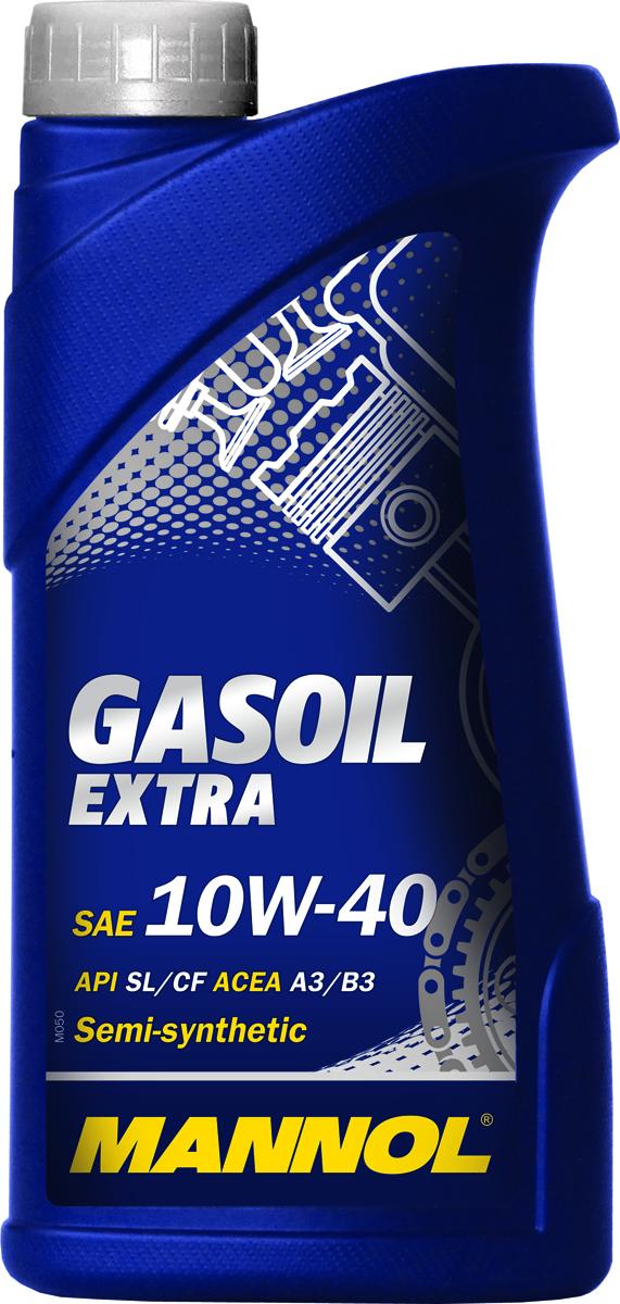 Моторное масло MANNOL Gasoil Extra, 10W-40, API SL/CF, полусинтетическое, 1 л10503Mannol Gasoil Extra - специальное всесезонное полусинтетическое моторное масло для применения в двигателях, работающих на природном газе. Масло разработано для защиты двигателя от высокой температуры, возникающей при сухом горении газового топлива. Предотвращает прогорание клапанов, сокращает образование в двигателе налета и других отложений, защищает кольца от залипания за счет низкой зольности. Возможно применение в бензиновых и дизельных двигателях.Допуски и соответствия ACEA A3/B3, VW 501.01/505.00, MB 229.1