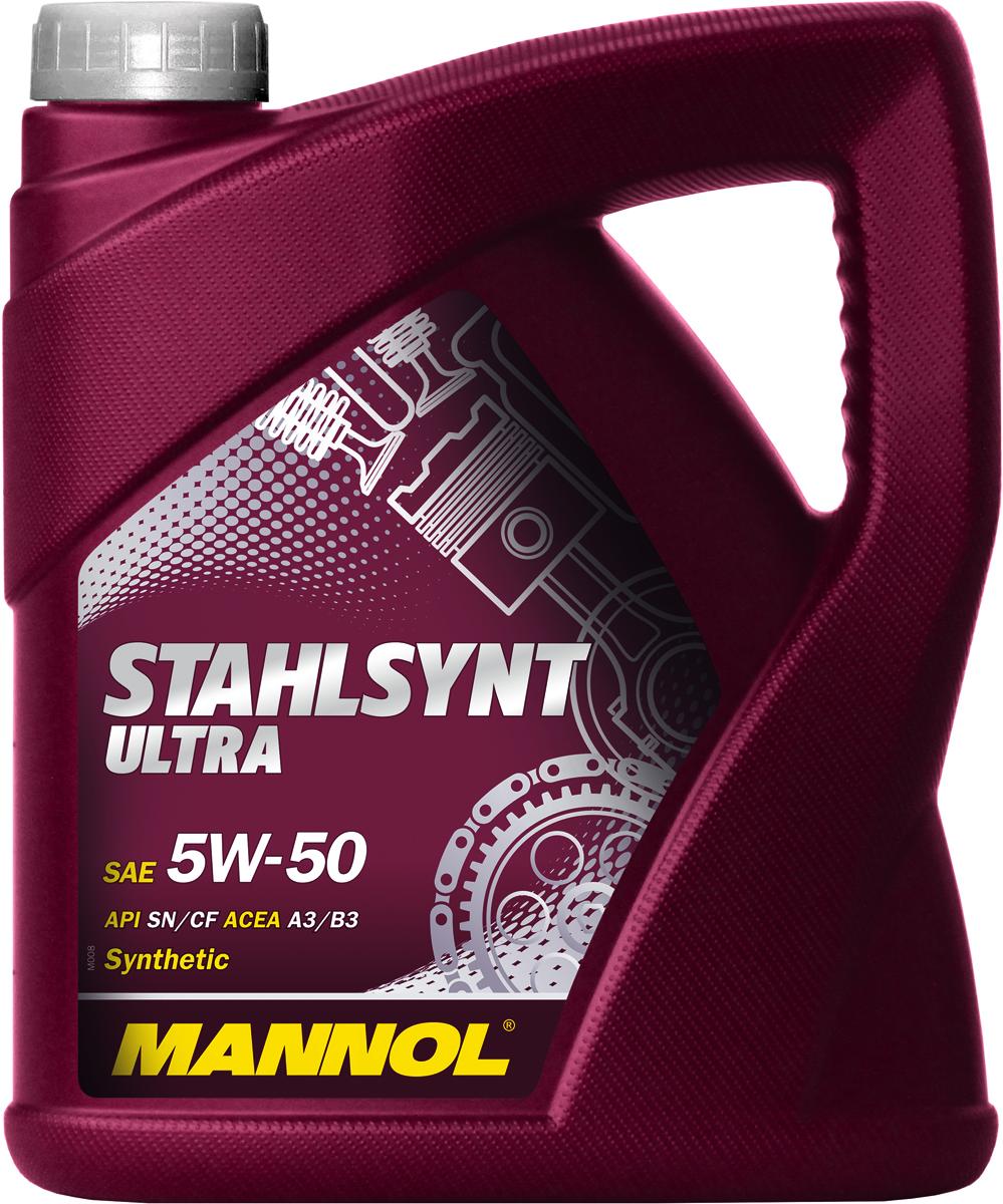 Масло моторное MANNOL Stahlsynt Ultra, 5W-50, синтетическое, 4 л183175Моторное масло MANNOL StahlSynt Ultra - универсальное всесезонное моторное масло на гидросинтетической основе, предназначенное для современных бензиновых и дизельных двигателей с турбонаддувом и без. Разработано с использованием специальной новой уникальной технологии снижения износа StahlSynt. Обеспечивает высокую степень защиты. Гарантирует исключительную чистоту деталей двигателя. Обеспечивает оптимальную вязкость в широком диапазоне температур. StahlSynt Ultra - надежная работа двигателя в условиях высоких нагрузок, скоростей и частой смены температур.Допуски и соответствия ACEA A3/B3. Вязкость при -25°C: 6000 CP. Вязкость при 100°C: 16,6 CSt. Вязкость при 40°C: 99,1 CSt. Индекс вязкости: 182. Плотность при 15°C: 847 kg/m3. Температура вспышки COC: 224 °C. Температура застывания: -35 °C. Щелочное число: 9,6 gKOH/kg. Товар сертифицирован.
