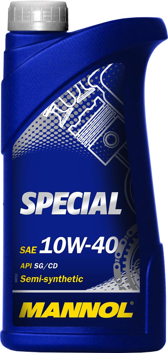 Моторное масло MANNOL Special, 10W-40, API SG/CD, полусинтетическое, 1 лS03301004Mannol Special 10W-40 - всесезонное полусинтетическое моторное масло, разработанное для применения в бензиновых и дизельных двигателях. Обладает высокой стойкостью к старению. Эффективно снижает нагаро- и лакообразование. Обеспечивает надежную смазку деталей двигателя. Содержит малозольный пакет присадок, способствующий продлению рабочего ресурса катализатора дожига отработавших газов.Допуски и соответствия VW 501.01/505.00, MB 229.1