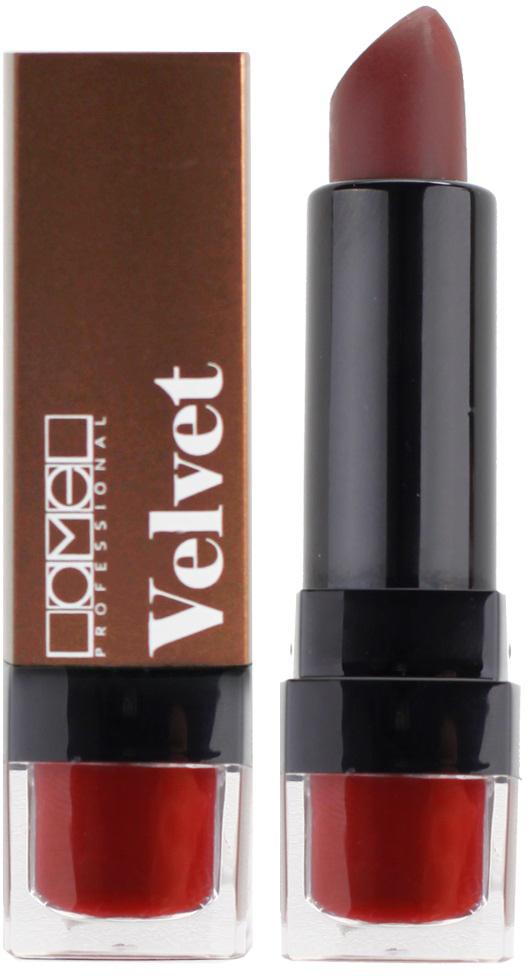 Lamel Professional Помада для губ Velvet матовая 03, 4 г5060449184247Матовая помада Lamel Velvet – любовь с первого прикосновения к вашим губам, обладает нежной, бархатистой текстурой, которая равномерно распределяется по коже, не подчеркивая шелушений и других недостатков. Помада не растекается, не скатывается в уголках и не сушит губы. Формула средства содержит витамин E и лецитин, благодаря чему помада оказывает на кожу губ ухаживающее действие – разглаживает, увлажняет и питает ее, даря Вам ощущение комфорта на весь день. Трендовая гамма из 6 цветов – вы захотите купить их все!