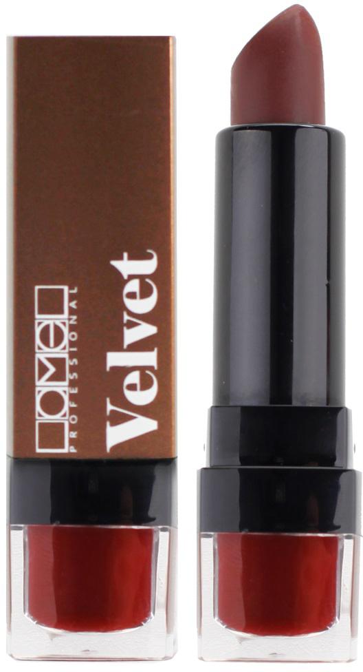 Lamel Professional Помада для губ Velvet матовая 04, 4 г5010777139655Матовая помада Lamel Velvet – любовь с первого прикосновения к вашим губам, обладает нежной, бархатистой текстурой, которая равномерно распределяется по коже, не подчеркивая шелушений и других недостатков. Помада не растекается, не скатывается в уголках и не сушит губы. Формула средства содержит витамин E и лецитин, благодаря чему помада оказывает на кожу губ ухаживающее действие – разглаживает, увлажняет и питает ее, даря Вам ощущение комфорта на весь день. Трендовая гамма из 6 цветов – вы захотите купить их все!