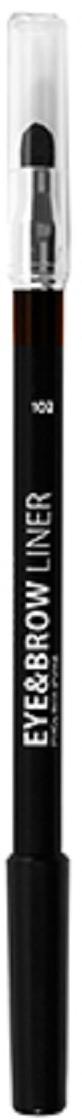 Lamel Professional Карандаш для глаз и бровей Eye and Brow liner с растушовкой 102, 1,7 г5060449184650Благодаря сочетанию воска, масел и пигментов карандаш для глаз легко и ровно ложится и дает насыщенный цвет. Хорошо растушевываются, и подходит для Smokey eyes.