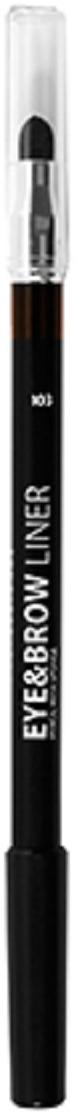 Lamel Professional Карандаш для глаз и бровей Eye and Brow liner с растушовкой 103, 1,7 г5060449184667Благодаря сочетанию воска, масел и пигментов карандаш для глаз легко и ровно ложится и дает насыщенный цвет. Хорошо растушевываются, и подходит для Smokey eyes.