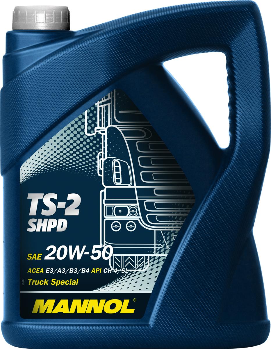 Масло моторное MANNOL TS-2 SHPD, 20W-50, минеральное, 5 л1942044Моторное масло Mannol TS-2 SHPD - cпециальное высококачественное Super High Performance Diesel (SHPD) моторное масло на минеральной основе для высоконагруженных дизелей грузовых автомобилей, рейсовых автобусов, строительной техники оснащенных турбонаддувом и без. Обеспечивает надежность работы двигателя при экстремальных нагрузках и отличную защиту от износа. Масло TS-2 SHPD получило множество одобрений производителей двигателей и подходит для использования практически во всех турбо- и безнаддувных двигателях тяжелой техники, работающей в самых различных условиях эксплуатации. Продукт имеет допуски / соответствует спецификациям / продуктам: SHPD, ACEA E3/A3/B3, MAN 271, MB 228.1/229.1, VOLVO VDS.Вязкость при -20°C: 9400 CP. Вязкость при 100°C: 17,8 CSt. Вязкость при 40°C: 155,8 CSt. Индекс вязкости: 126. Плотность при 15°C: 894 kg/m3. Температура вспышки COC: 226 °C. Температура застывания: -25 °C. Щелочное число: 8,7 gKOH/kg. Товар сертифицирован.