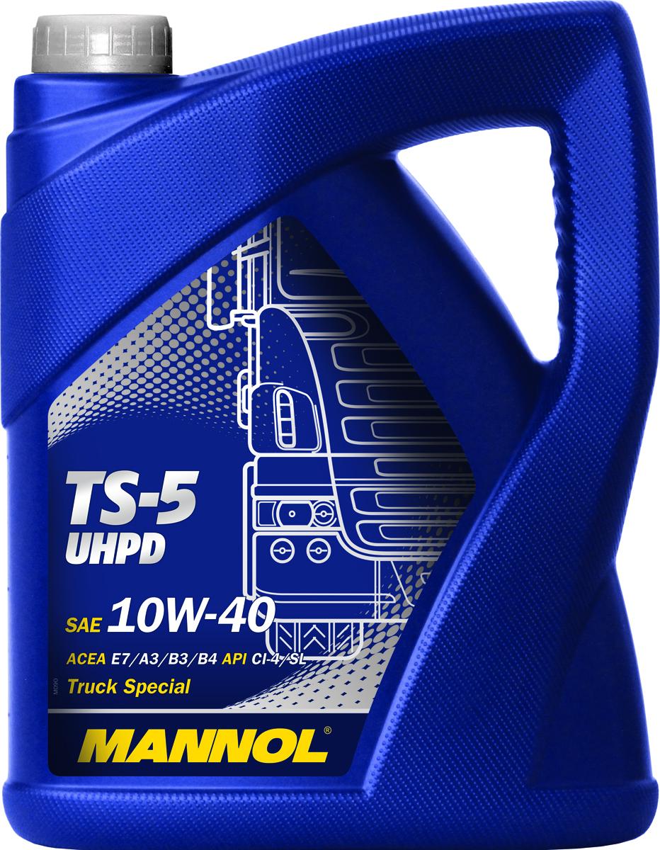 Масло моторное MANNOL TS-5 UHPD, 10W-40, синтетическое, 5 л4000Моторное масло MANNOL TS-5 UHPD – высококачественное моторное масло на основе синтетической технологии, разработанное для современных высоконагруженных турбодизельных и бензиновых двигателей грузовых автомобилей (UHPD), современной строительной техники, рейсовых автобусов и специального автотранспорта, оснащенных новейшими системами снижения токсичности отработавших газов (SCR, CAT). Моторное масло может быть использовано в газовых двигателях, работающих на компримированном (метан, CNG), сжиженном (LNG) природном газе, а также на сжиженном нефтяном газе (LPG).Синтетические компоненты обеспечивают высокий уровень эксплуатационных свойств. Обладает превосходными низкотемпературными характеристиками. Обеспечивает стабильную вязкость в широком диапазоне температур окружающей среды. Надежно защищает детали двигателя от износа и задира, как при холодном старте, так и при высоких рабочих температурах. Способствует экономичной работе двигателя. Совместимо с системами дожига выхлопных газов EGR. Высокотехнологичный пакет присадок обеспечивает отличные моющие диспергирующие свойства, сохраняя исключительную чистоту деталей двигателя. (Щелочное число TBN = 11,42 мг КОН на 1 г масла.) Обладает высокой температурой вспышки (231°C), тем самым, предотвращается расход масла на угар. Создано с учетом требований для эксплуатации в тяжелых условиях (низкое качество топлива) и увеличенных интервалах техобслуживания. Продукт имеет допуски / соответствует спецификациям / продуктам: UHPD, ACEA E7/A3/B4, CUMMINS CES 20078, DETROIT DIESEL 93K215, DEUTZ DQC-III-05, MACK EO-N, MAN M 3275, MB 228.3/229.1, RENAULT VI RLD-2, VOLVO VDS-3.Вязкость при -25°C: 6900 CP. Вязкость при 100°C: 13,9 CSt. Вязкость при 40°C: 94,2 CSt. Индекс вязкости: 150. Плотность при 15°C: 876 kg/m3. Температура вспышки COC: 225 °C. Температура застывания: -30 °C. Щелочное число: 10,4 gKOH/kg. Товар сертифицирован.