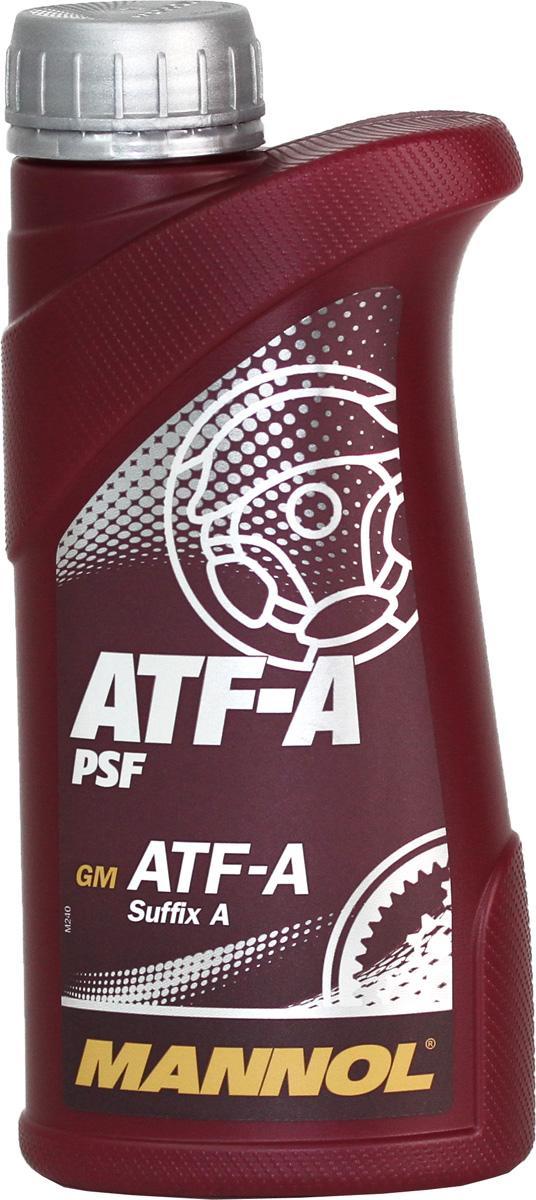 Масло трансмиссионное MANNOL ATF-A PSF, минеральное, 1 л1180Универсальное всесезонное масло MANNOL ATF-A PSF особого качества на минеральной основе для гидроусилителей рулей, соответствующее спецификации GM ATF-A PSF A. Обладает высокими антиокислительными и противо-коррозионными свойствами. Химически нейтрально к любым прокладкам и уплотнителям. Применимо так же для использования в автоматических коробках передач, преобразователях вращения и гидравлических сцеплениях автомобилей. Продукт имеет допуски / соответствует спецификациям / продуктам: ALLISON C3, CATERPILLAR TO-2, GM ATF-A Suffix A.Вязкость при 100°C: 6,9 CSt.Вязкость при 40°C: 36,9 CSt.Индекс вязкости: 149.Плотность при 15°C: 872 kg/m3. Температура вспышки COC: 168 °C.Товар сертифицирован.