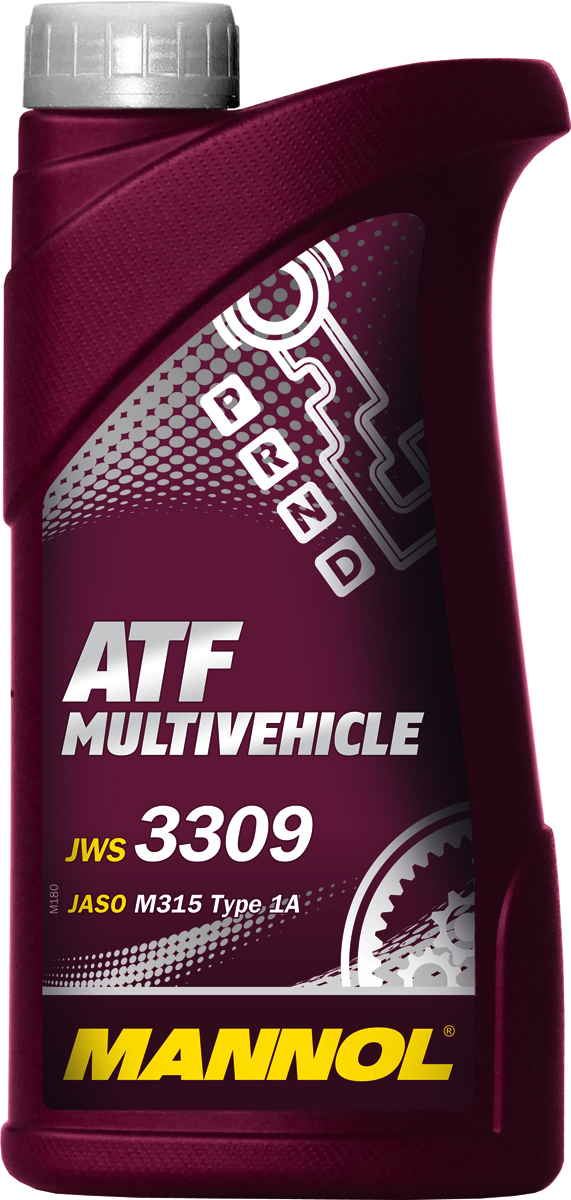 Трансмиссионное масло MANNOL ATF Multivehicle, синтетическое, 1 л1060Трансмиссионное масло MANNOL ATF Multivehicle - специальная жидкость на основе смеси высококачественных базовых масел и новейшего пакета присадок для автоматических трансмиссий современных автомобилей. Уникальный состав модификаторов трения позволяет поддерживать необходимый уровень фрикционных свойств в течение длительного срока и обеспечивать плавное и мягкое переключение передач. Стойкость к воздействию высоких температур и отличные низкотемпературные характеристики жидкости позволяют надежно работать трансмиссии при любых климатических условиях. Жидкость предназначена для различных АКПП легковых и коммерческих автомобилей японского и корейского производства. Может использоваться АКПП: Toyota, Nissan, Mitsubishi, Mazda, Honda (кроме CVT), Suzuki, Subaru, Hyundai. Продукт имеет допуски / соответствует спецификациям / продуктам:AISIN WARNER JWS 3309JASO M315 Type 1AJATCO ATFJATCO 3100 PLO85TOYOTA ATF Type T/T-II/T-III/T-IVNISSAN/INFINITI MATIC D/J/KNISSAN/TEXACO N402 (JATCO FWD)MITSUBISHI Diamond SP-II/SP-IIIMAZDA ATF-M III / ATF-MVDAIHATSU Alumix ATF MultiHONDA ATF Z-1 (not for CVT) / ATF DW-1SUZUKI 3314, 3317, 2384KSUZUKI ATF Oil / ATF Oil SpecialSUBARU ATF, ATF-HPHYUNDAI / KIA SP-II, SP-IIIIDEMITSU K17-Jaguar X Type 2001-2005MOPAR AS68RCGM DEXRON II/IID/IIE/IIIF/IIIG/IIIHCHRYSLER ATF +3/+4VW/AUDI G-052-025-A2 / G-052-162-A1 / G-052-990 A1/A2 / G-055-025 A1/A2BMW 7045E (3 Series) / ETL-8072B (5 Series) / LA2634, LT71141 (ZF 5 Speed)MERCEDES-Benz 236.1/2/3/5/6/7/9/10/11PORSCHE JWS 3309VOLVO 97340/97341VOITH 55.6335.XX (G607)ALLISON C-4ZF TE-ML 03D/04D/11B/14A/14B/16L/17FORD MERCON V, FNR5MAN 339F/V1/V2/Z1/Z2