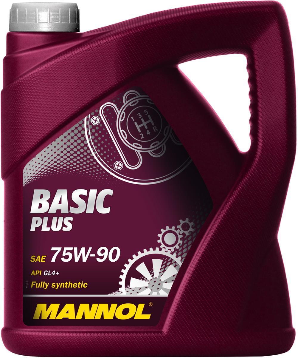 Трансмиссионное масло MANNOL Basic Plus, 75W-90, синтетическое, 4 л1181Basic Plus 75W90 GL-4+ - полностью синтетическое высоко-качественное трансмиссионное масло, предназначенное для смазки коробок передач с интегрированными дифференциалами. Обеспечивает высокую защиту дифференциала и увеличивает срок его службы. Способствует продлению срока между заменами масла. Превосходит большинство требований автопроизводителей, продукт имеет допуски / соответствует спецификациям / продуктам:SAE 75W-90API GL 4+MIL-L 2105VW 501.50