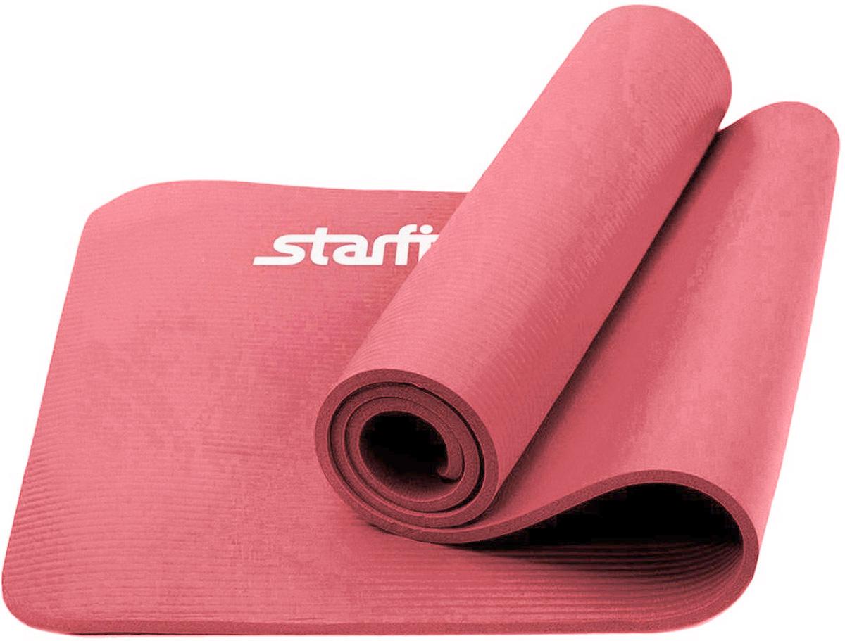 Коврик для йоги Starfit, цвет: розовый, 183 x 58 x 1,2 см10231Коврик для йоги Star Fit - это современный, удобный и компактный аксессуар для занятий фитнесом и йогой в группах или домашних условиях. Изделие выполнено из NBR (нитрильный каучук), а не скользящая и мягкая на ощупь поверхность обеспечивает комфорт при выполнении упражнений. В процессе занятий коврик не растягивается и не теряет формы.