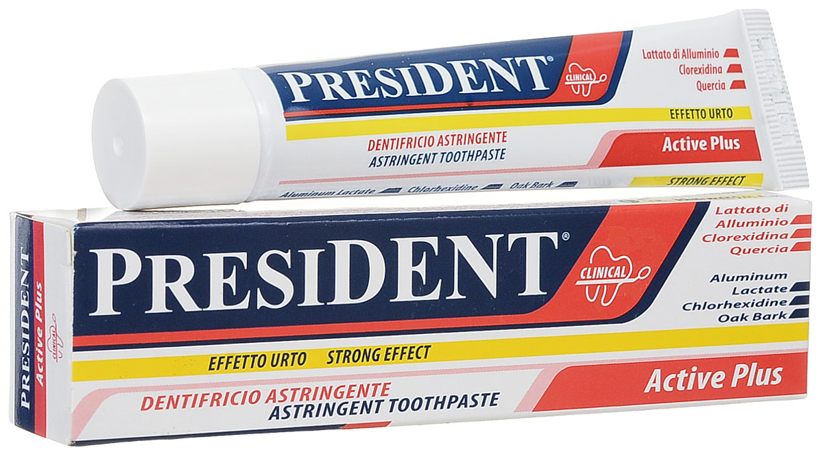 President зубная паста Activ Plus, против кровоточивости десен, 30мл5010777139655Эффективен для снятия кровоточивости даже в сложных случаях.