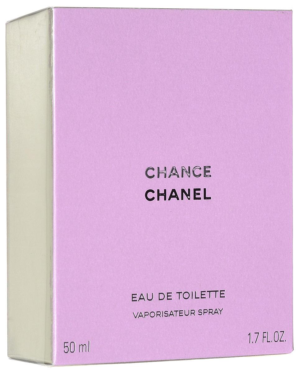 Chanel Chance туалетная вода женская, 50 мл65114166это аромат для женщин, принадлежит к группе ароматов шипровые цветочные. Chance Eau de Toilette выпущен в 2003. Парфюмер: Jacques Polge. Верхние ноты: Ананас, Ирис, Пачули, Розовый перец и Гиацинт; ноты сердца: Жасмин и Лимон; ноты базы: Мускус, Пачули, Ваниль и Ветивер.