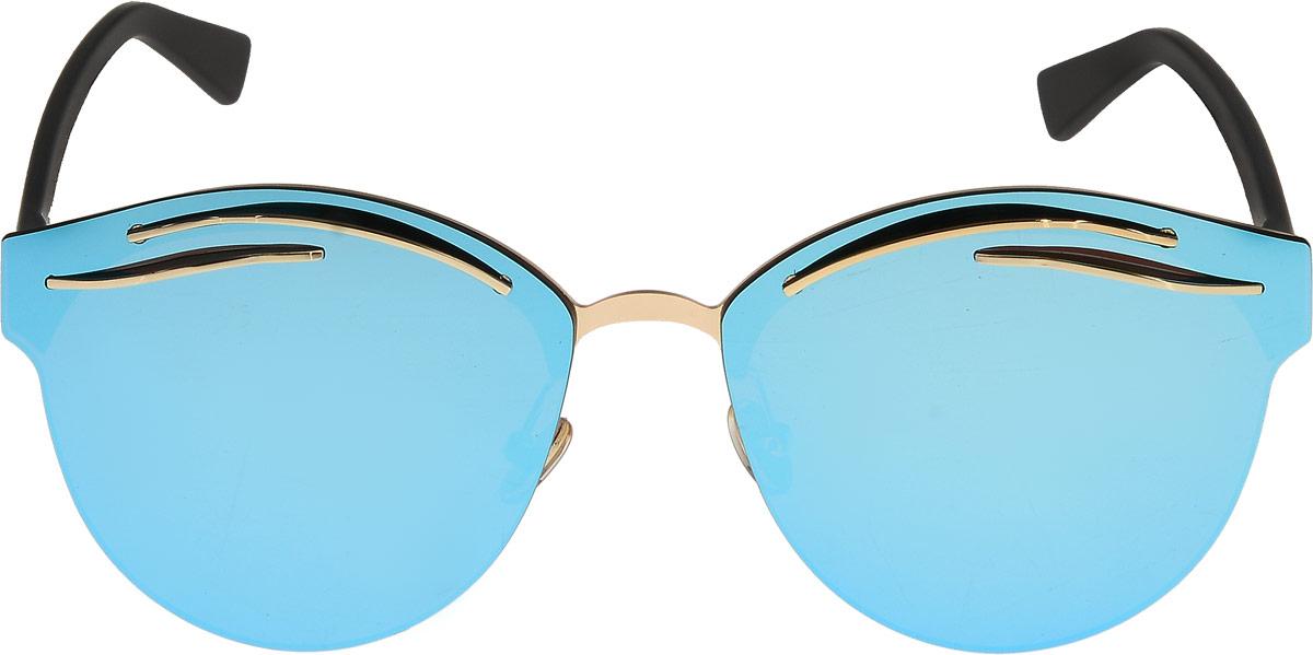 Очки солнцезащитные женские Taya, цвет: черный, синий. S-O-00941900671-5605Стильные солнцезащитные очки Taya формы кошачий глаз прекрасно подходят для повседневной носки и отдыха. Очки с высокоэффективным ультрафиолетовым фильтром защитят ваши глаза от ультрафиолета, повреждений и ярких солнечных лучей. Очки Taya – это эффектный аксессуар, который станет изюминкой вашего индивидуального стиля.Категория: 3. Пропускают 8-18% света.