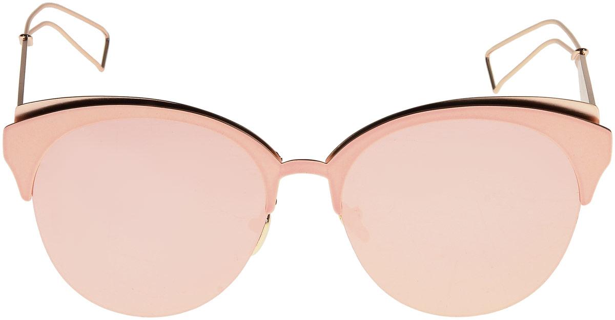 Очки солнцезащитные женские Taya, цвет: розовый. S-O-0085INT-06501Кошачий глаз, ультрафиолетовый фильтр, зеркальные. Габариты предмета: высота линзы 5,0 см; ширина линзы 5,6 см; длина дужки 15,0 см