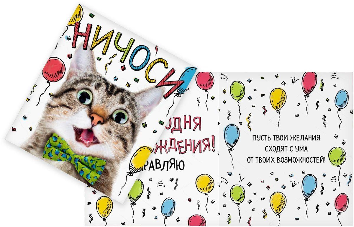 Открытка Дарите cчастье Ничоси, 14 х 16 см41619Атмосферу праздника создают детали: свечи, цветы, бокалы, воздушные шары и поздравительные открытки — яркие и весёлые, романтичные и нежные, милые и трогательные. Расскажите о своих чувствах дорогому для вас человеку, поделитесь радостью с близкими и друзьями. Открытка с креативным дизайном вам в этом поможет.