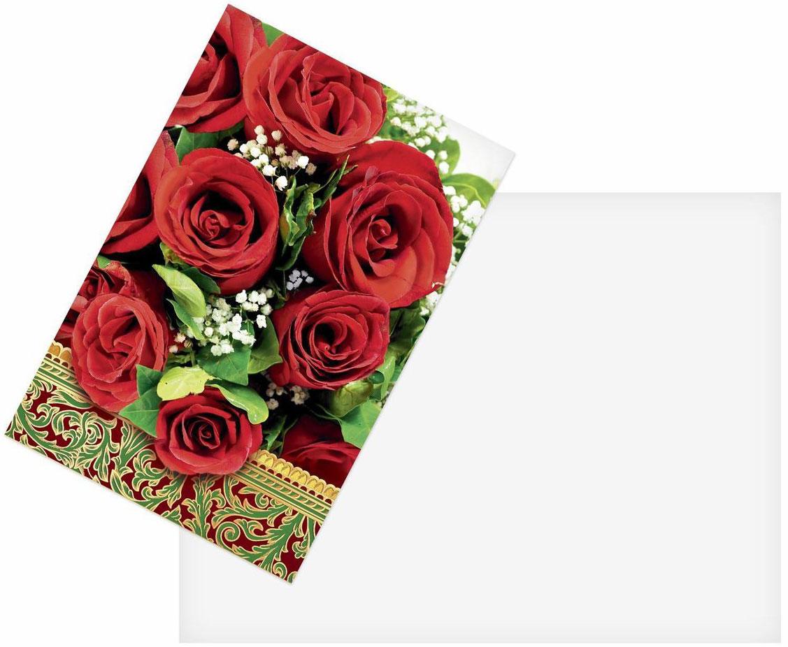 Открытка Дарите cчастье Красные розы, 12 х 18 см41619Атмосферу праздника создают детали: свечи, цветы, бокалы, воздушные шары и поздравительные открытки — яркие и весёлые, романтичные и нежные, милые и трогательные. Расскажите о своих чувствах дорогому для вас человеку, поделитесь радостью с близкими и друзьями. Открытка с креативным дизайном вам в этом поможет.