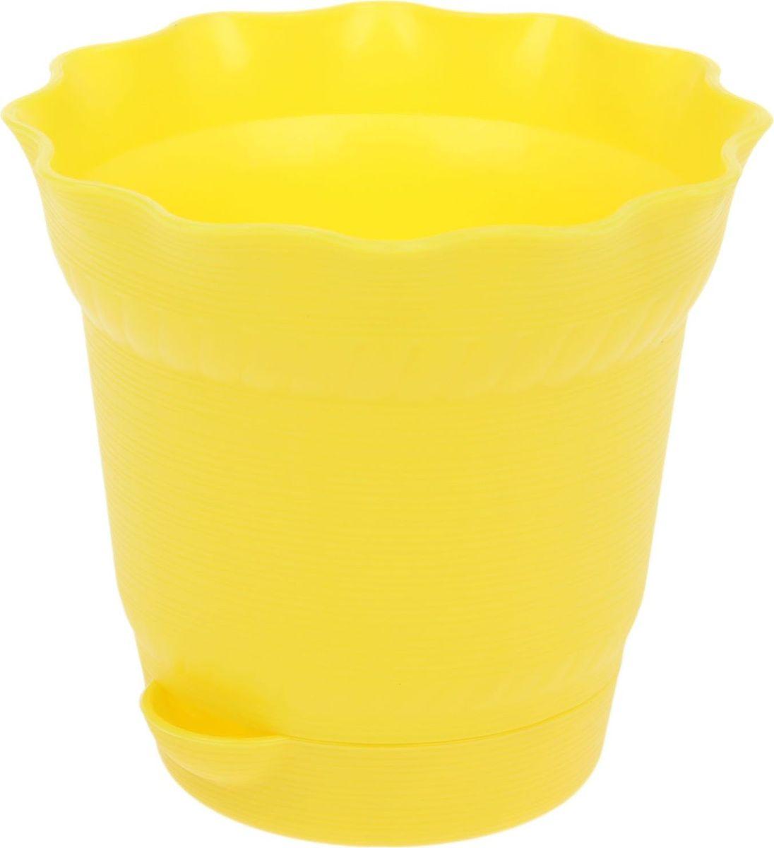 Горшок для цветов ТЕК.А.ТЕК Aquarelle, с поддоном, цвет: желтый, 1 л531-401Любой, даже самый современный и продуманный интерьер будет не завершённым без растений. Они не только очищают воздух и насыщают его кислородом, но и заметно украшают окружающее пространство. Такому полезному члену семьи просто необходимо красивое и функциональное кашпо, оригинальный горшок или необычная ваза! Мы предлагаем - Горшок для цветов 1 л с поддоном Aquarelle, d=14 см, цвет жёлтый! Оптимальный выбор материала пластмасса! Почему мы так считаем? Малый вес. С лёгкостью переносите горшки и кашпо с места на место, ставьте их на столики или полки, подвешивайте под потолок, не беспокоясь о нагрузке. Простота ухода. Пластиковые изделия не нуждаются в специальных условиях хранения. Их легко чистить достаточно просто сполоснуть тёплой водой. Никаких царапин. Пластиковые кашпо не царапают и не загрязняют поверхности, на которых стоят. Пластик дольше хранит влагу, а значит растение реже нуждается в поливе. Пластмасса не пропускает воздух корневой системе растения не грозят резкие перепады температур. Огромный выбор форм, декора и расцветок вы без труда подберёте что-то, что идеально впишется в уже существующий интерьер. Соблюдая нехитрые правила ухода, вы можете заметно продлить срок службы горшков, вазонов и кашпо из пластика: всегда учитывайте размер кроны и корневой системы растения (при разрастании большое растение способно повредить маленький горшок)берегите изделие от воздействия прямых солнечных лучей, чтобы кашпо и горшки не выцветалидержите кашпо и горшки из пластика подальше от нагревающихся поверхностей. Создавайте прекрасные цветочные композиции, выращивайте рассаду или необычные растения, а низкие цены позволят вам не ограничивать себя в выборе.