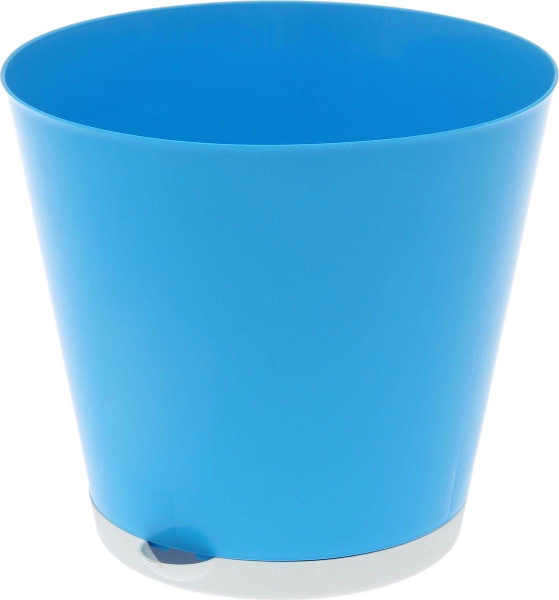 Горшок для цветов InGreen Крит, с системой прикорневого полива, цвет: светло-синий, 5 л1637037Каждому хозяину периодически приходит мысль обновить свою квартиру, сделать ремонт, перестановку или кардинально поменять внешний вид каждой комнаты. Пластиковый горшок для цветов InGreen Крит - это поиск нового, в основе которого лежит целесообразность. Специальная конструкция обеспечивает вентиляцию в корневой системе растения, а дренажная решетка позволяет выходить лишней влаге из почвы. Крепежные отверстия и штыри прочно крепят подставку к горшку. Прикорневой полив растения осуществляется через удобный носик.Окружите себя приятными мелочами, пусть они радуют глаз и дарят гармонию.Диаметр горшка (по верхнему краю): 22,6 см.