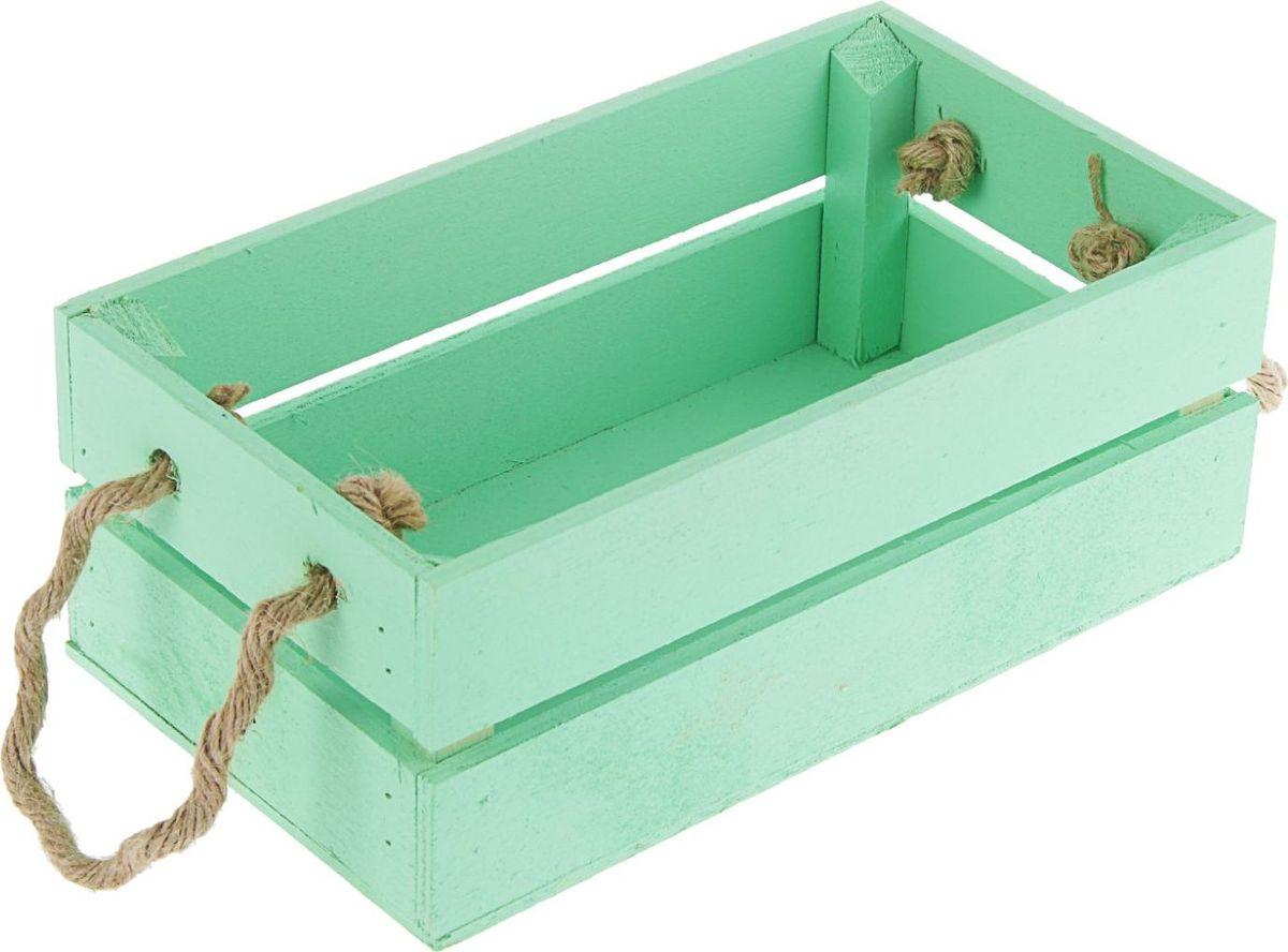 Кашпо ТД ДМ Ящик, цвет: зеленый, 24,5 х 13,5 х 9 см2219801Кашпо ТД ДМ Ящик имеет уникальную форму, сочетающуюся как с классическим, так и с современным дизайном интерьера. Оно изготовлено из дерева и предназначено для выращивания растений, цветов и трав в домашних условиях.Кашпо порадует вас функциональностью, а благодаря лаконичному дизайну впишется в любой интерьер помещения. Размеры кашпо: 24,5 х 13,5 х 9 см.