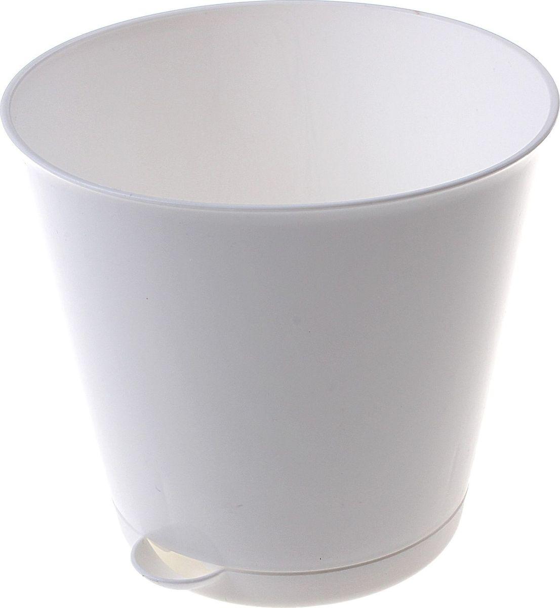 Горшок для цветов InGreen Крит, с системой прикорневого полива, цвет: белый, 700 мл612701Каждому хозяину периодически приходит мысль обновить свою квартиру, сделать ремонт, перестановку или кардинально поменять внешний вид каждой комнаты. Пластиковый горшок для цветов InGreen Крит - это поиск нового, в основе которого лежит целесообразность. Специальная конструкция обеспечивает вентиляцию в корневой системе растения, а дренажная решетка позволяет выходить лишней влаге из почвы. Крепежные отверстия и штыри прочно крепят подставку к горшку. Прикорневой полив растения осуществляется через удобный носик.Окружите себя приятными мелочами, пусть они радуют глаз и дарят гармонию.Диаметр горшка (по верхнему краю): 12 см.