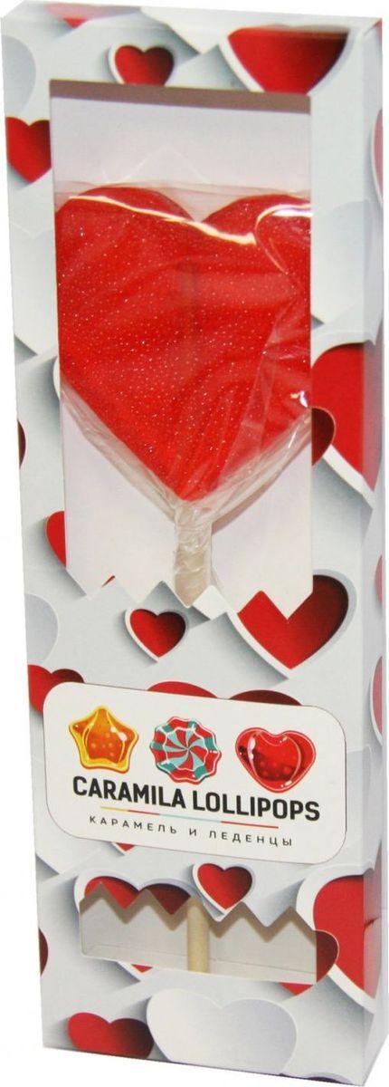Caramila Lollipops Сердце леденец на палочке, 50 г0120710Caramila Lolipops - новый леденцовый бренд. Леденцы на палочках в самых модных и необычных формах: совенок, череп, сердечко, машинка и робот.