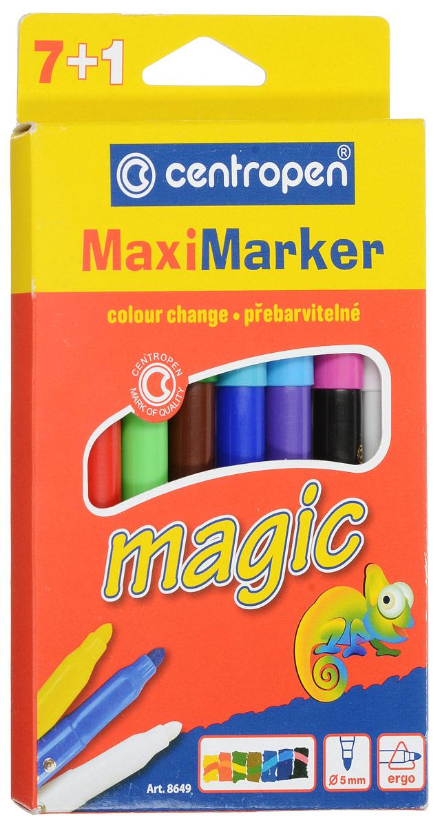Centropen Набор перекрашивающих маркеров Magic 7 цветов72523WDНабор перекрашивающих маркеров Centropen Magic имеют треугольный профиль корпуса в зоне захвата, отвечающий самым современным тенденциям в области эргономики письма и черчения.Наполнены маркеры магическими чернилами, которые изменяют цвет после перекрашивания поглотителем чернил. Таким образом, из одного набора (7 маркеров и 1 поглотитель чернил) вы получите 14 цветов. Расцветка корпуса маркеров соответствует цвету находящихся в них чернил, а колпачки маркеров имеют цвет, который получится в результате перекрашивания.