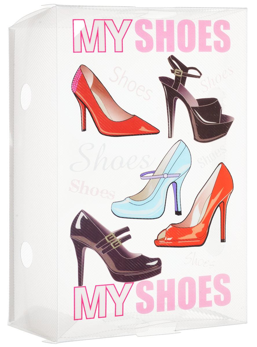 Коробка для хранения обуви Youll love, 30 х 18 х 10 смCLP446Коробка Youll love изготовлена из высококачественного прозрачного полипропилена и декорирована рисунком. Она специально предназначена для хранения обуви. Изделие легко собирается и не занимает много места. С помощью боковой крышки можно доставать обувь, не снимая коробку с полки.Коробка для хранения Youll love- идеальное решение для аккуратного хранения вашей обуви в межсезонье.