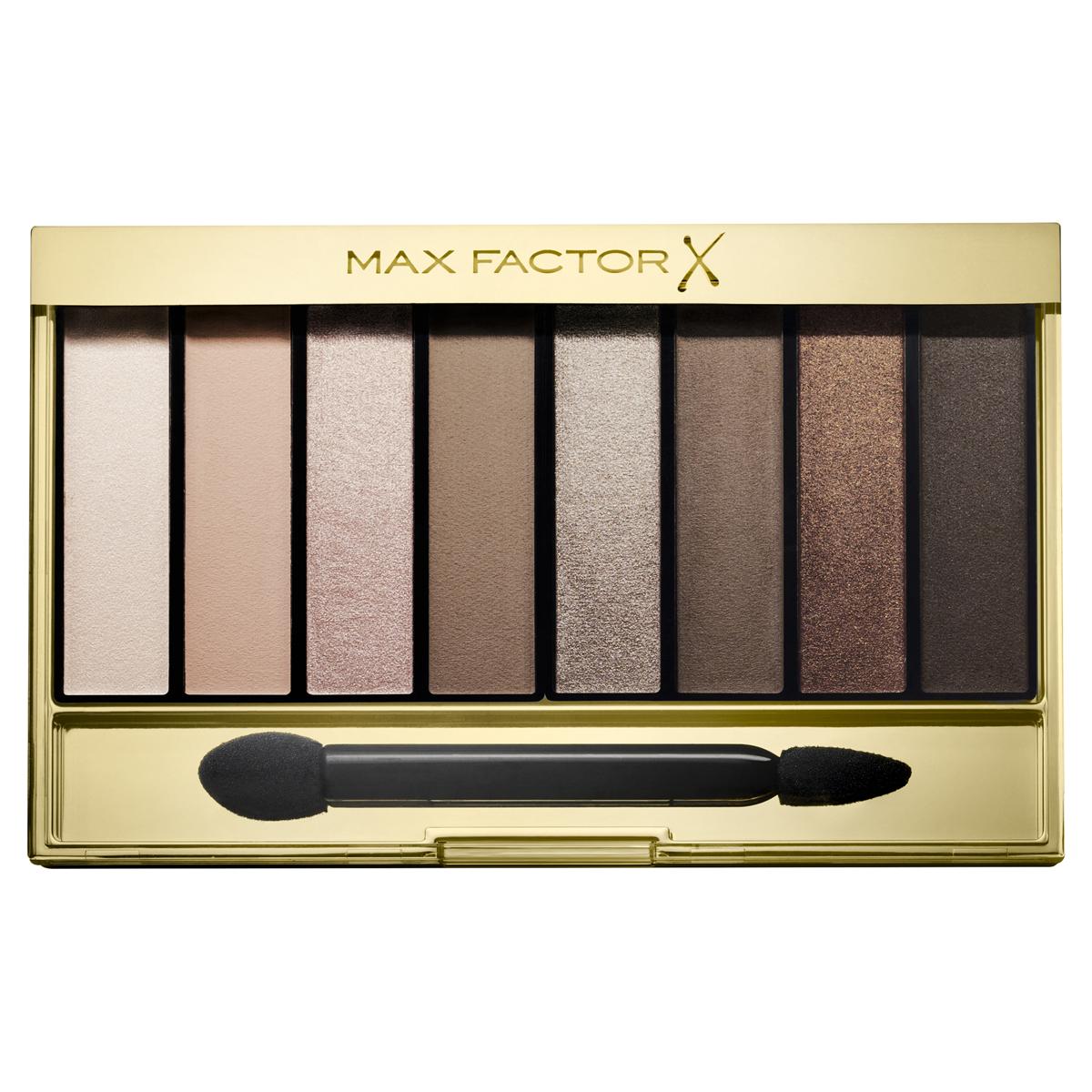 Max Factor Тени для век Masterpiece Nude Palette, Тон 01 cappuccinoFCA0010709-05Max Factor Masterpiece Nude Palette— это универсальная палитра теней для придания выразительности глазам. Благодаря восьми идеально подобранным оттенкам ты можешь создать гламурный макияж глаз в стиле «нюд». Идеально подобранные оттенки теней, от приглушенных до насыщенных, позволяют подчеркнуть выразительность глаз, создавая множество образов— от повседневных нюдовых до соблазнительных смоки. Формула: Запеченные тени отдают больше пигмента для более яркого, насыщенного цвета. Тени из палетки легко накладываются и имеют бархатистую текстуру. Они делятся на матовые, шиммерные и блестящие. Выбери из трех палеток ту, которая подходит твоему тону кожи. Найди палитру, которая идеально подходит для твоего тона кожи: Cappuccino Nudes для теплых тонов кожи; Rose Nudes для холодных тонов кожи; Golden Nudes для темных тонов кожи.