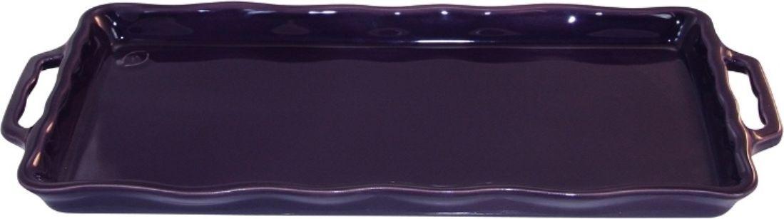 Форма для выпечки Appolia Delices, цвет: баклажановый, 41 х 18,2 х 3,1 смFS-91909Благодаря большому разнообразию изящных форм и широкой цветовой гамме, коллекция DELICES предлагает всевозможные варианты приготовления блюд для себя и гостей. Выбирайте цвета в соответствии с вашими желаниями и вашей кухне. Закругленные углы облегчают чистку. Легко использовать. Большие удобные ручки. Прочная жароустойчивая керамика экологична и изготавливается из высококачественной глины. Прочная глазурь устойчива к растрескиванию и сколам, не содержит свинца и кадмия. Глина обеспечивает медленный и равномерный нагрев, деликатное приготовление с сохранением всех питательных веществ и витаминов, а та же долго сохраняет тепло, что удобно при сервировке горячих блюд.