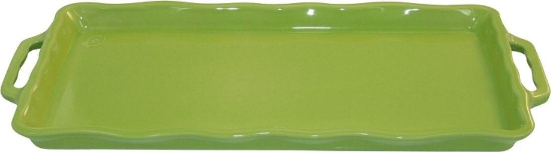 Форма для выпечки Appolia Delices, цвет: лаймовый, 41 х 18,2 х 3,1 см54 009312Благодаря большому разнообразию изящных форм и широкой цветовой гамме, коллекция DELICES предлагает всевозможные варианты приготовления блюд для себя и гостей. Выбирайте цвета в соответствии с вашими желаниями и вашей кухне. Закругленные углы облегчают чистку. Легко использовать. Большие удобные ручки. Прочная жароустойчивая керамика экологична и изготавливается из высококачественной глины. Прочная глазурь устойчива к растрескиванию и сколам, не содержит свинца и кадмия. Глина обеспечивает медленный и равномерный нагрев, деликатное приготовление с сохранением всех питательных веществ и витаминов, а та же долго сохраняет тепло, что удобно при сервировке горячих блюд.