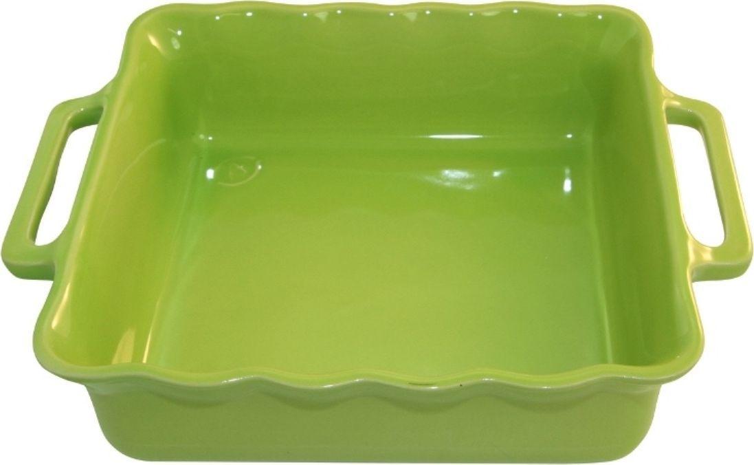 Форма для выпечки Appolia Delices, квадратная, цвет: лаймовый, 3,3 лFS-91909Благодаря большому разнообразию изящных форм и широкой цветовой гамме, коллекция DELICES предлагает всевозможные варианты приготовления блюд для себя и гостей. Выбирайте цвета в соответствии с вашими желаниями и вашей кухне. Закругленные углы облегчают чистку. Легко использовать. Большие удобные ручки. Прочная жароустойчивая керамика экологична и изготавливается из высококачественной глины. Прочная глазурь устойчива к растрескиванию и сколам, не содержит свинца и кадмия. Глина обеспечивает медленный и равномерный нагрев, деликатное приготовление с сохранением всех питательных веществ и витаминов, а та же долго сохраняет тепло, что удобно при сервировке горячих блюд.