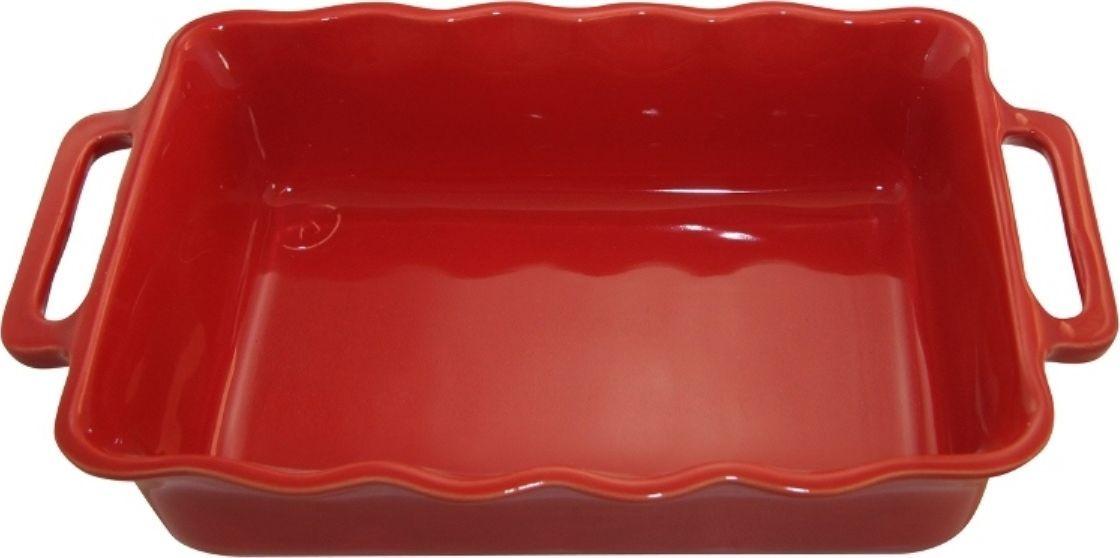 Форма для выпечки Appolia Delices, прямоугольная, цвет: красный, 1,8 л115510Благодаря большому разнообразию изящных форм и широкой цветовой гамме, коллекция DELICES предлагает всевозможные варианты приготовления блюд для себя и гостей. Выбирайте цвета в соответствии с вашими желаниями и вашей кухне. Закругленные углы облегчают чистку. Легко использовать. Большие удобные ручки. Прочная жароустойчивая керамика экологична и изготавливается из высококачественной глины. Прочная глазурь устойчива к растрескиванию и сколам, не содержит свинца и кадмия. Глина обеспечивает медленный и равномерный нагрев, деликатное приготовление с сохранением всех питательных веществ и витаминов, а та же долго сохраняет тепло, что удобно при сервировке горячих блюд.