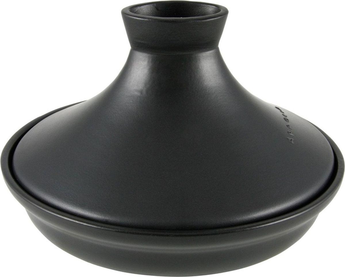 Тажин Appolia Terre&Flamme, овальный, цвет крышки: черный, 2,5 л115510Коллекция Terre&Flamme сочетает в себе современные технологии и вековые традиции. Прочная жароустойчивая керамика экологична и изготавливается из высококачественной глины. Прочная глазурь устойчива к растрескиванию и сколам, не содержит свинца и кадмия. Глина обеспечивает медленный и равномерный нагрев, деликатное приготовление с сохранением всех питательных веществ и витаминов, а та же долго сохраняет тепло, что удобно при сервировке горячих блюд. Подходит для приготовления на открытом огне, на газовых, электрических и других плитах, некоторые модели подходят для использования на индукционных плитах. Необходимо тщательно просушивать после мытья и хранить с приоткрытой крышкой.