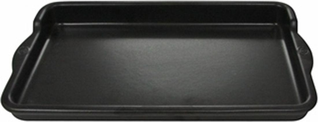 Противень Appolia Terre&Flamme, цвет: черный матовый, 36 х 22 х 3,6 см54 009312Коллекция Terre&Flamme сочетает в себе современные технологии и вековые традиции. Прочная жароустойчивая керамика экологична и изготавливается из высококачественной глины. Прочная глазурь устойчива к растрескиванию и сколам, не содержит свинца и кадмия. Глина обеспечивает медленный и равномерный нагрев, деликатное приготовление с сохранением всех питательных веществ и витаминов, а та же долго сохраняет тепло, что удобно при сервировке горячих блюд. Подходит для приготовления на открытом огне, на газовых, электрических и других плитах, некоторые модели подходят для использования на индукционных плитах. Необходимо тщательно просушивать после мытья и хранить с приоткрытой крышкой.