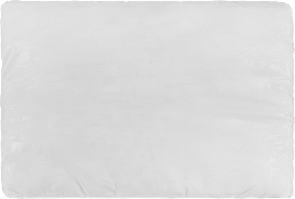 Подушка Smart Textile Безмятежность, наполнитель: лебяжий пух, бамбук, цвет: белый, 50 х 70 смES-412Удобная и мягкая подушка Smart Textile Безмятежность подарит здоровый сон и отличный отдых. Чехол подушки на молнии выполнен из микрофибры с красивым узором. В качестве наполнителя используется лебяжий пух с добавлением бамбукового волокна. Подушка мягкая, легкая и воздушная, бамбуковый наполнитель напоминает вату или синтепон. Лебяжий пух - это 100% сверхтонкое высокосиликонизированное волокно. Такой наполнитель мягкий и приятный на ощупь. Гипоаллергенное волокно бамбука легко пропускает воздух и не вызывает потливости. Оно мгновенно впитывает влагу и быстро высыхает, что особенно важно в летний зной. Подушка удобна в эксплуатации: легко стирается, быстро сохнет, сохраняя первоначальные свойства, устойчива к воздействию прямых солнечных лучей, износостойка и прочна. Подушка не накапливает запахов и не требует химчистки. Подушка упруга, великолепно держит форму, а также отличается достаточной жесткостью. Сон на такой подушке не принесет болей в шее и позвоночнике. Изделие также обладает высокой теплоизоляционной способностью - не вызывает перегрева головы.