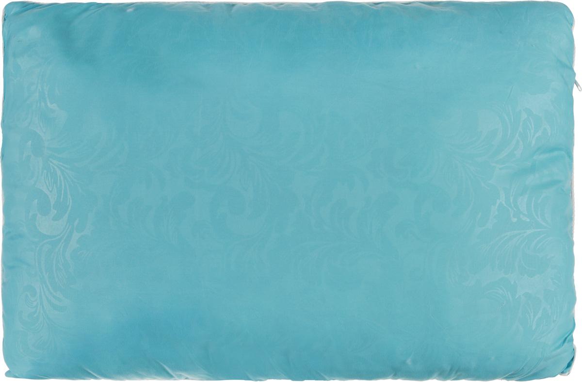 Подушка Smart Textile Безмятежность, наполнитель: лебяжий пух, бамбук, цвет: голубой, 50 х 70 смPR-2WУдобная и мягкая подушка Smart Textile Безмятежность подарит здоровый сон и отличный отдых. Чехол подушки на молнии выполнен из микрофибры с красивым узором. В качестве наполнителя используется лебяжий пух с добавлением бамбукового волокна. Подушка мягкая, легкая и воздушная, бамбуковый наполнитель напоминает вату или синтепон. Лебяжий пух - это 100% сверхтонкое высокосиликонизированное волокно. Такой наполнитель мягкий и приятный на ощупь. Гипоаллергенное волокно бамбука легко пропускает воздух и не вызывает потливости. Оно мгновенно впитывает влагу и быстро высыхает, что особенно важно в летний зной. Подушка удобна в эксплуатации: легко стирается, быстро сохнет, сохраняя первоначальные свойства, устойчива к воздействию прямых солнечных лучей, износостойка и прочна. Подушка не накапливает запахов и не требует химчистки. Подушка упруга, великолепно держит форму, а также отличается достаточной жесткостью. Сон на такой подушке не принесет болей в шее и позвоночнике. Изделие также обладает высокой теплоизоляционной способностью - не вызывает перегрева головы.