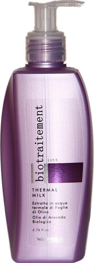Brelil Bio Traitement Liss Milk Разглаживающее молочко 200 млB069521Brelil Bio Traitement Liss Milk Разглаживающее молочко это эффективное средство для ухода за непослушными, кучерявыми или жёсткими волосами. Средство создано на основе инновационной формулы итальянского бренда Brelil Professional, которая содержит экстракт масла авокадо, экстракт листьев оливы и термальную воду. Экстракт масла авокадо в комплексе с ненасыщенными жирными кислотами Омега-6 и Омега-9, оказывает на волосы отличный разглаживающий и тонизирующий эффект, питает волосы витаминами и обеспечивает восстановление повреждённой структуры. Натуральный экстракт листьев оливы делает даже самые жёсткие волосы мягкими и эластичными, способствует восстановлению иммунитета.