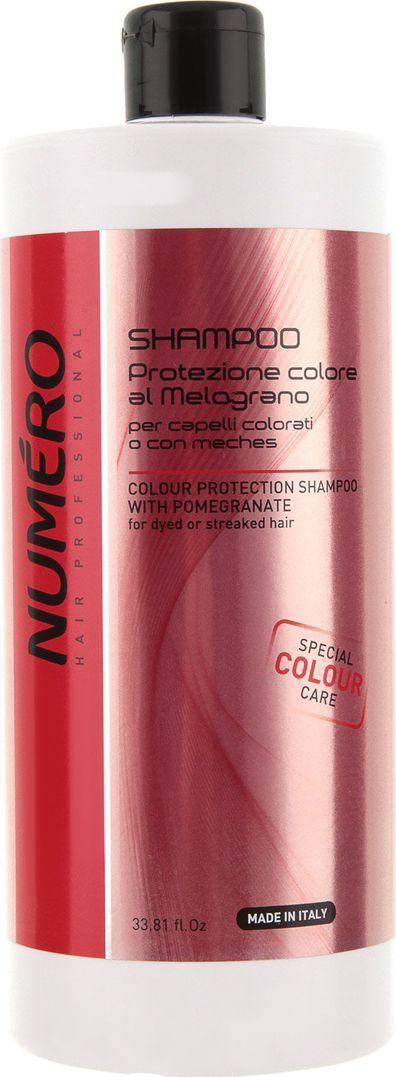 Brelil Numero Colour Шампунь для защиты цвета с эктрактом граната для окрашенных и мелированных волос 1000 мл2070Для окрашенных и мелированных волос. Состав шампуня защищает волосы от выгорания и воздействия внешних негативных факторов, надолго сохраняя интенсивность и яркость окрашивания.