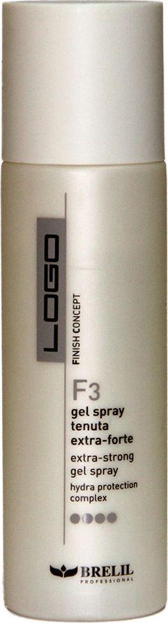 Brelil Logo F3 Extra Strong Gel Spray Спрей-гель для волос экстра сильной фиксации 250 млFS-00897В состав геля Extra Strong Gel Spray для придания формы экстрасильной фиксации входит hydraprotection комплекс, способствующий реструктуризации волос, их увлажнению и защите от теплового воздействия. Спрей-гель делает волосы блестящими и быстро высыхает.