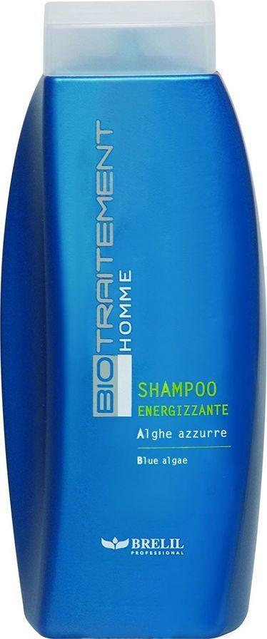 Brelil Bio Traitement Homme Shampoo Energizzante Шампунь Энергия 250 мл72523WDШампунь «Энергия» от Brelil Professional содержит экстракт морских водорослей, витамин Е и пантенол, обладающие активным омолаживающим, питательным и защитным действием. Шампунь также эффективно очищает кожный покров головы, обладает противовоспалительным, антимикробным и отшелушивающим эффектом.