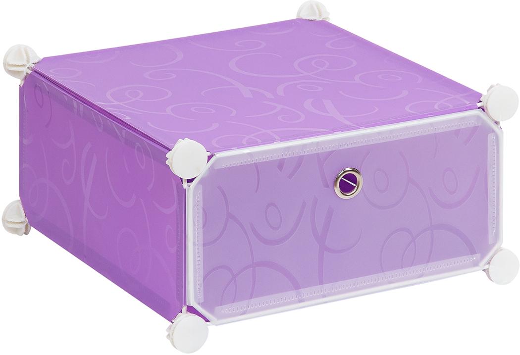 Полка складная EL Casa, для модульной системы хранения, цвет: фиолетовый, 37 х 39 х 21 смRG-D31SПолка складная EL Casa представляет собой сборный металлический каркас, на который натянуты панели из полипропилена. Дверца снабжена магнитом, а ручка выполнена в виде кольца. Модульная полка предназначена для хранения одежды, игрушек и мелочей. Она легкая, вместительная, быстро собирается, не занимает много места, комбинируется с другими полками модульных систем El Casa. Компактная полка станет незаменимой дома или на даче, однотонная расцветка позволит ей вписаться в любой интерьер.