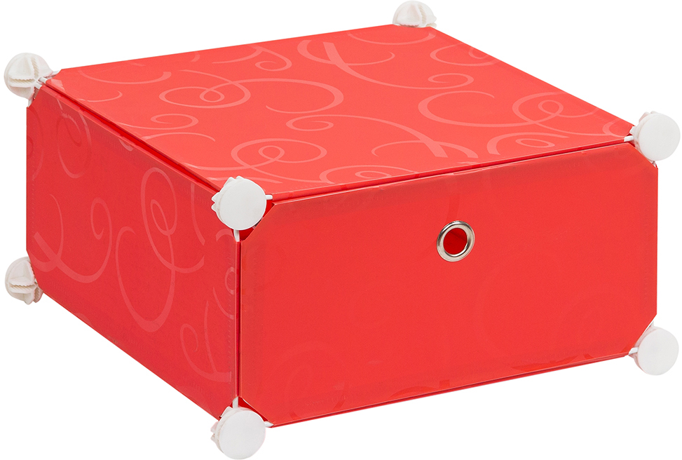 Полка складная EL Casa, для модульной системы хранения, цвет: красный, 37 х 39 х 21 смRG-D31SПолка складная EL Casa представляет собой сборный металлический каркас, на который натянуты панели из полипропилена. Дверца снабжена магнитом, а ручка выполнена в виде кольца. Модульная полка предназначена для хранения одежды, игрушек и мелочей. Она легкая, вместительная, быстро собирается, не занимает много места, комбинируется с другими полками модульных систем El Casa. Компактная полка станет незаменимой дома или на даче, однотонная расцветка позволит ей вписаться в любой интерьер.