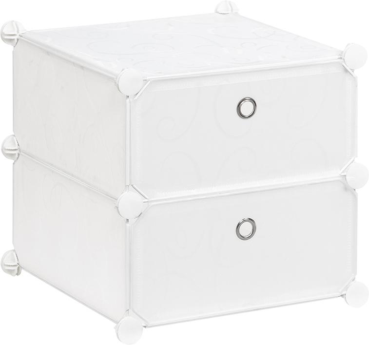 Полка складная EL Casa, для модульной системы хранения, цвет: белый, 37 х 39 х 39 см. 37064174-0060Полка складная EL Casa представляет собой сборный металлический каркас, на который натянуты панели из полипропилена. Дверца снабжена магнитом, а ручка выполнена в виде кольца. Изделие имеет 2 отделения. Модульная полка предназначена для хранения одежды, игрушек и мелочей. Она легкая, вместительная, быстро собирается, не занимает много места, комбинируется с другими полками модульных систем El Casa. Компактная полка станет незаменимой дома или на даче, однотонная расцветка позволит ей вписаться в любой интерьер.