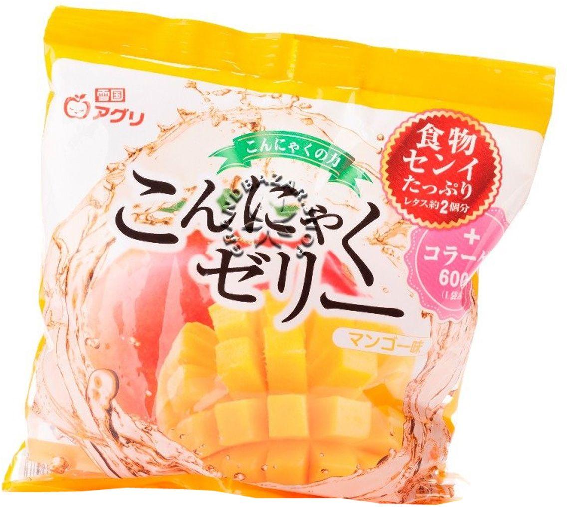 Yukiguni желе конняку десерт с соком манго, 115 г0120710Низкокалорийный диетический продукт способствует снижению холестерина. Освежающий, нежный и мягкий вкус манго. Хорошо сочетается с мороженым или сливками.Основой желе являются водорастворимые пищевые волокна, которые способствуют очищению и дают длительное чувство насыщения, купируют чувство голода, способствуют похудению. Содержит коллаген, который обладает омолаживающим эффектом для кожи и является источником минералов, витаминов. Содержит натуральные соки. Вкусный и полезный продукт для взрослых и детей.