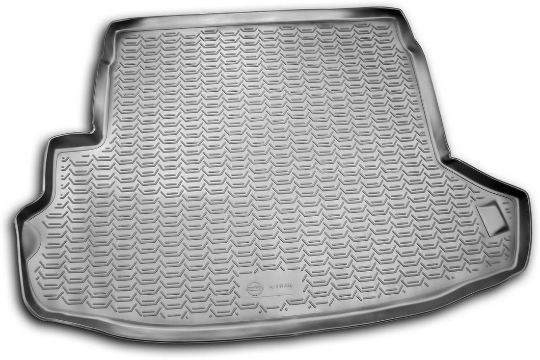 Коврик автомобильный Novline-Autofamily для Nissan X-Trail Т31 кроссовер 2007-2010, 2011-02/2015, в багажник, цвет: черный21395599Автомобильный коврик Novline-Autofamily, изготовленный из полиуретана, позволит вам без особых усилий содержать в чистоте багажный отсек вашего авто и при этом перевозить в нем абсолютно любые грузы. Этот модельный коврик идеально подойдет по размерам багажнику вашего автомобиля. Такой автомобильный коврик гарантированно защитит багажник от грязи, мусора и пыли, которые постоянно скапливаются в этом отсеке. А кроме того, поддон не пропускает влагу. Все это надолго убережет важную часть кузова от износа. Коврик в багажнике сильно упростит для вас уборку. Согласитесь, гораздо проще достать и почистить один коврик, нежели весь багажный отсек. Тем более, что поддон достаточно просто вынимается и вставляется обратно. Мыть коврик для багажника из полиуретана можно любыми чистящими средствами или просто водой. При этом много времени у вас уборка не отнимет, ведь полиуретан устойчив к загрязнениям.Если вам приходится перевозить в багажнике тяжелые грузы, за сохранность коврика можете не беспокоиться. Он сделан из прочного материала, который не деформируется при механических нагрузках и устойчив даже к экстремальным температурам. А кроме того, коврик для багажника надежно фиксируется и не сдвигается во время поездки, что является дополнительной гарантией сохранности вашего багажа.Коврик имеет форму и размеры, соответствующие модели данного автомобиля.