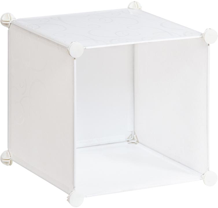 Полка складная EL Casa, для модульной системы хранения, цвет: белый, 37 х 39 х 39 см. 370661CLP446Полка складная EL Casa представляет собой сборный металлический каркас, на который натянуты панели из полипропилена. Модульная полка предназначена для хранения одежды, игрушек и мелочей. Она легкая, вместительная, быстро собирается, не занимает много места, комбинируется с другими полками модульных систем El Casa. Компактная полка станет незаменимой дома или на даче, однотонная расцветка позволит ей вписаться в любой интерьер.
